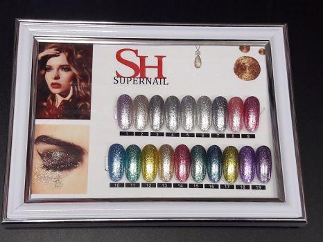Гель-лак слюда #017 SH Professional Color gel 10мл. (тёмное золото)