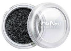 Дизайн для ногтей: пыль (черный, матовый)