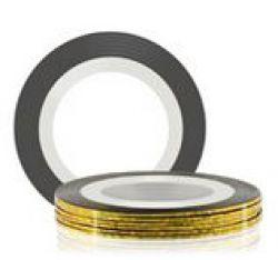 Самоклеющаяся лента для дизайна ногтей (золото), 20 м