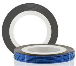 Самоклеющаяся лента для дизайна ногтей (синяя, голографическая), 20 м