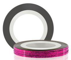 Самоклеющаяся лента для дизайна ногтей (розовая), 20 м