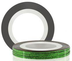Самоклеющаяся лента для дизайна ногтей (зеленая), 20 м