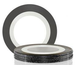 Самоклеющаяся лента для дизайна ногтей (черная), 20 м