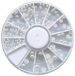MZH-08-01 Жемчужины белые в карусельке