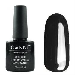 Гель-лак «Canni» #161 Pure Black 7,3ml. (черный)
