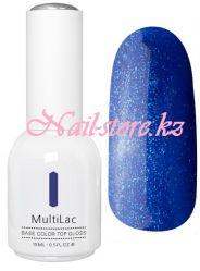 MultiLac, гель-лак 4 в 1 (с блестками, Синий восторг, Blue Delight), 15 мл