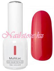 MultiLac, гель-лак 4 в 1 (классический, Калина красная, Red Viburnum), 15 мл