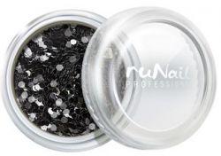 Дизайн для ногтей: конфетти (черный)