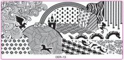 DER-13 Пластина для нейл стемпинга