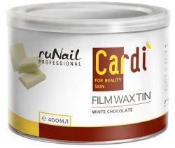 Воск пленочный для депиляции Cardi (Белый шоколад), 400 мл  (истекает срок годности 26.08.16, воск своих качеств не потерял)