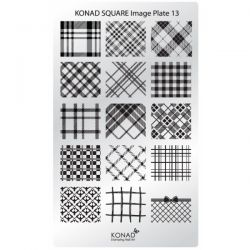 Пластина Square Plate - 13 (15 принтов) Konad