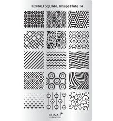 Пластина Square Plate - 14 (15 дизайнов) Konad