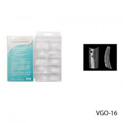 VGO-16Прозрачные зауженные типсы с 3-мя звездообразными отверстиям