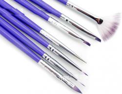 Набор кистей для рисования Purple (7шт)