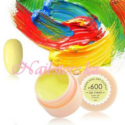 №600 Гель-краска CANNI 5 мл (пастельная желтая)