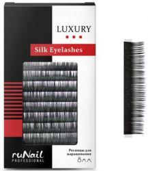 Ресницы для наращивания Luxury, шёлк Ø 0,10 мм, №8, 12 линий Runail
