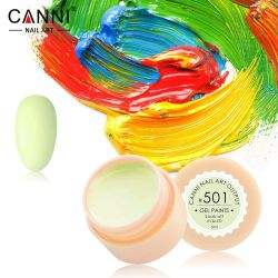 №501 Гель-краска CANNI 5 мл (бледно-салатовая)