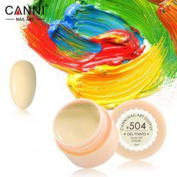 №504 Гель-краска CANNI 5 мл (бледно-желтая)