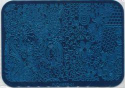 FLOWERS-01 Пластина для нейл стемпинга