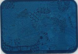 FLOWERS-03 Пластина для нейл стемпинга