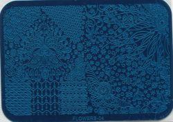FLOWERS-04 Пластина для нейл стемпинга