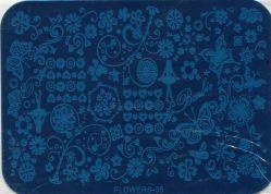 FLOWERS-05 Пластина для нейл стемпинга