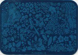 FLOWERS-16 Пластина для нейл стемпинга