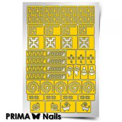 Трафарет для дизайна ногтей PRIMA Nails. Африка