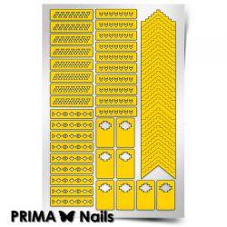 Трафарет для дизайна ногтей PRIMA Nails. Ацтеки и Майя 1