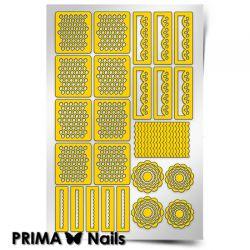 Трафарет для дизайна ногтей PRIMA Nails. Кружева