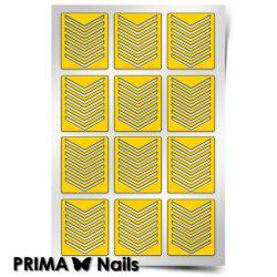 Трафарет для дизайна ногтей PRIMA Nails. Шевроны средние