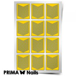 Трафарет для дизайна ногтей PRIMA Nails. Шевроны тонкие