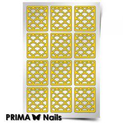 Трафарет для дизайна ногтей PRIMA Nails. Русалка (крупный)