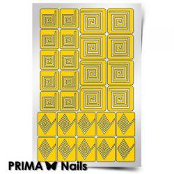 Трафарет для дизайна ногтей PRIMA Nails. Квадрат