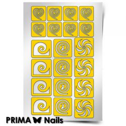 Трафарет для дизайна ногтей PRIMA Nails. Фантазия