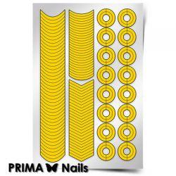 Трафарет для дизайна ногтей PRIMA Nails. Френч и лунки. Классика