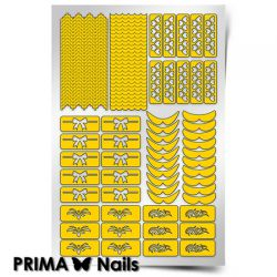 Трафарет для дизайна ногтей PRIMA Nails. Френч и лунки. Фантазия