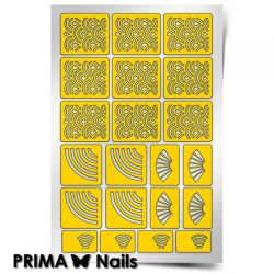 Трафарет для дизайна ногтей PRIMA Nails. Япония