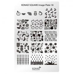 Пластина Square Plate-18 (18 дизайнов) Konad