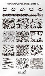 Пластина Square Plate-17 (20 дизайнов) Konad