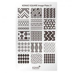 Пластина Square Plate-21 (15 дизайнов) Konad