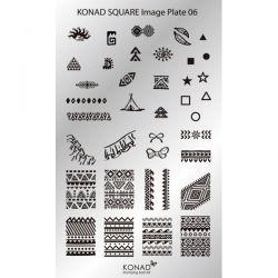 Пластина Square Plate - 6 (36 дизайнов) Konad