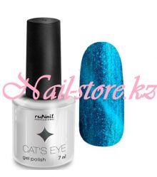 Гель-лак Cat's eye (серебристый блик, цвет: Шантильи тиффани, Chantilly-Tiffany), 7 мл
