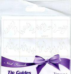 NF-012 Трафарет виниловый для дизайна ногтей