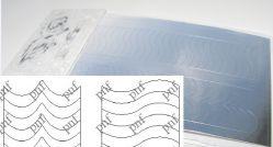 134-PFN Металлизированная наклейка серебро ( клеевая основа)