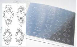 163-PFN Металлизированная наклейка серебро ( клеевая основа)