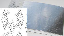 119-PFN Металлизированная наклейка серебро ( клеевая основа)