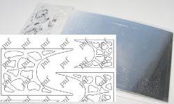 123-PFN Металлизированная наклейка серебро ( клеевая основа)