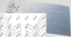 133-PFN Металлизированная наклейка серебро ( клеевая основа)
