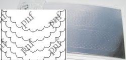 120-PFN Металлизированная наклейка серебро ( клеевая основа)